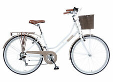 "2017 Viking Belgravia 18"" Ladies Traditional 6 Speed Bike Coffee/White RRP £260"