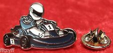 Go-Kart Lapel Hat Cap Tie Pin Badge Go Kart Racing Karting Brooch Motorsport