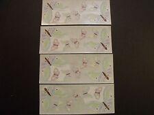 "Creative Memories ~ 2"" x 5"" Stickers ~ Pastel Butterflies - Lot of Four"