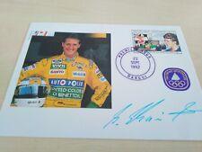 Michael Schumacher, Ersttagsbrief mit Autopen-Unterschrift, Zentralafrika