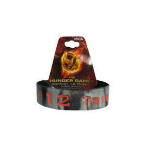 The Hunger Games District 12 Tribute Marbled Rubber Bracelet Officially Licensed