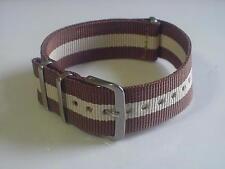 Brown/Tan Skunk Bond 20mm G10 Military strap band 4 TIMEX Weekender & ZULU Watch