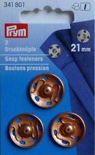 3 Prym Botones De Presión Para Coser 21mm Oro Rosado 341801