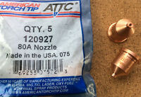 Nozzle Shielded 80A Plasma Cutting American Torch Tip 120927 Multi Qty