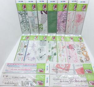 HEYDA Wortschätze Transparentpapier Streifen Basteln Gestalten 115g/m² 7x29,7cm