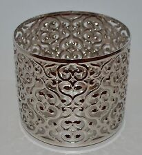 NEW BATH & BODY WORKS OPEN HEART SWIRL LARGE 3 WICK CANDLE HOLDER SLEEVE 14.5 OZ