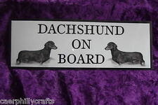 S/H Dachshund On Board Car Sign