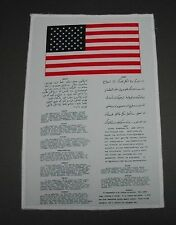 DESERT STORM IRAQI OEF OIF BLOOD CHIT USAF US NAVY ARMY USMC Silk Like Patch