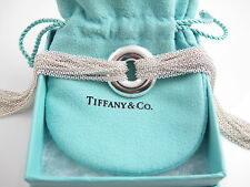 Tiffany & Co Silver Multi Strand Circle Mesh Necklace Pendant 18 Inch Packaging
