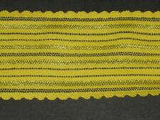 """Yellow nylon elastic stretch trimming fabric scalloped trim By the yard  2 1/2""""W"""