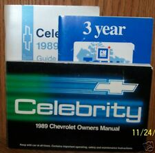 1989 Chevrolet Celebrity***Full Set***Owners Manual