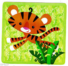 """5"""" ANIMALS OF THE RAINFOREST TIGER LION JUNGLE WALL SAFE STICKER BORDER CUT OUT"""