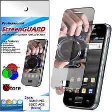 2 Películas Espejo Para Samsung Galaxy Ace S5830 Protector De Pantalla LCD