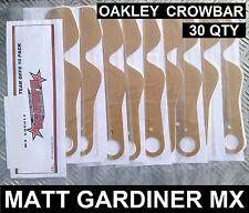 30 quantité TEAR OFFS pour OAKLEY CROWBAR LUNETTES DE MOTOCROSS MX