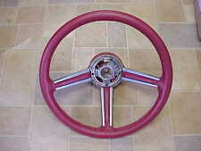 1978 79 Chrysler Cordoba 300 Magnum NOS MoPar RED LEATHER STEERING WHEEL