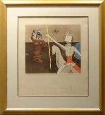 "Salvador Dali ""Off To Battle"" Hand Signed by Dali, Intaglio Etching, Make Offer!"