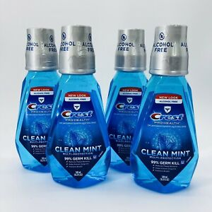 Lot of 4 Crest ProHealth Clean Mint Alcohol Free Mouthwash Exp 09/21