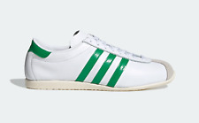 adidas Overdub Leather leather Trainers in White and Green