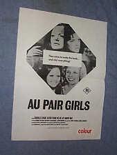 Original AU PAIR GIRLS New Zealand Daybill SEXPLOITATION aka YOUNG PLAYMATES