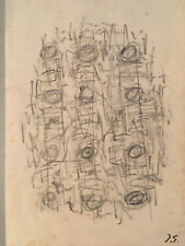 Germain Jacques Mine Plomb signée Art Abstrait abstraction lyrique Bauhaus 1950