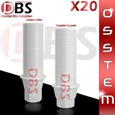 20X Dental Plastic Abutment Osstem Regular / Mini Platform With Hex + Screw
