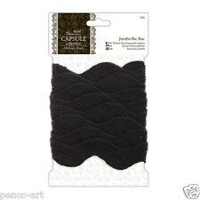 Papermania 2m Jumbo Ric RAC Ribbon Braid Trim for Card Making / Sewing Craft Midnight Blush (black)
