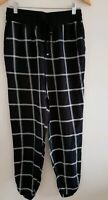 Womens Matalan Black White Checked Trousers Size 8 <EE1103z
