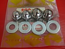 SUZUKI A50 A70 A100 B100 P T10 T125 FA50 OR50 RE5 REAR SHOCK ACORN CAP NUT SET