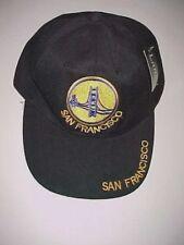 San Francisco Golden Gate Bridge CA. Adult Unisex Black Baseball Cap 1 Size New
