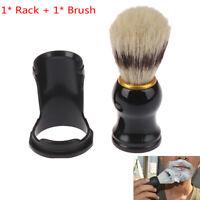 Men'S Shaving Brush Holder Stand & Hair Beard Brush Shaving Tools Wet Shavin_QA