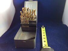 New listing Lot Of 20 Hss Wood Drill Bits In Metal Box