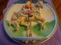 "Bradford Exchange ""Carousel Daydreams-Swept Away"" Musical Plate"