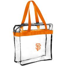 MLB San Francisco Giants Clear Zipperd Messanger Tote Bag