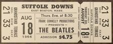 THE BEATLES CONCERT TICKET FROM SUFFOLK DOWNS AUGUST 18TH 1966 PERRY COX LOA