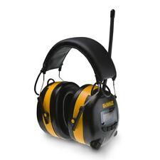 DEWALT Digital Ear Muff AM/FM Radio Earmuffs Aux Input MP3 Phone Plug Headphones