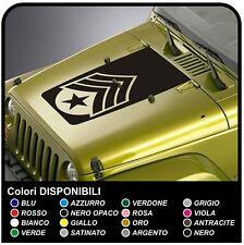 adesivo cofano per jeep Wrangler e Willys SGT SERGEANT sticker decals
