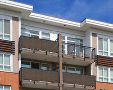 Alion Home© 3 FT Tall Custom Length Mocha Privacy Screen Patio Balcony Fence
