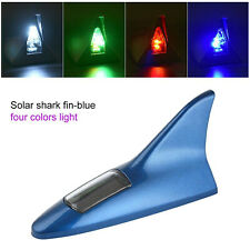 Blue Universal Car Shark Fin Aerial 8LED Light Top Roof Decorative Dummy Antenna