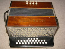 """old & nice """"Clubmeister"""" diatonic button accordion """"Made in Germany"""""""