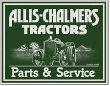Allis Chalmers Tractor Farm Equipment Parts Service Decor Retro Metal Tin Sign