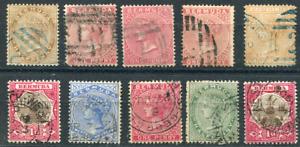 BERMUDA (25645):  QV selection stamps postmark/cancels