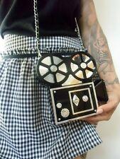 Sac à main minaudière original camera vintage plastique acrylique rétro pin-up