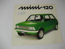 1975 Innocenti Mini 120 Spec Sheet.....Italian