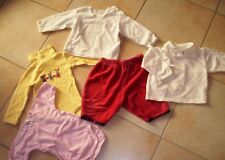 5-teil.Bekleidungspaket,Gr.62/68,2 Shirts,2 Body,1 kurze Leggings,guter Zustand
