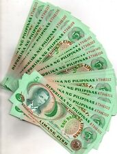 100x PHILIPPINES ABL 5 Pesos Notes Marcos-Laya in Series Sequence UNC RED Serial