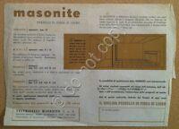 Materiali edili - Volantino pubblicitario - Feltrinelli Masonite - Milano - '50