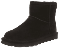 Bearpaw Womens Alyssa Genuine Sheepskin Lined Boots Suede Pull On Winter Booties