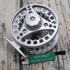 AU SILVER ALUMINUM FLY FISHING REEL 5/6 85MM LEFT OR RIGHT HAND RETREIVE