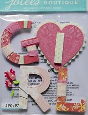 JOLEE'S BOUTIQUE BABY GIRL YARN WORD Scrapbook Craft Sticker Embellishment