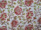 10 Yard Indian Hand Block Print Pure Cotton Fabric Sanganeri Running Fabric 24